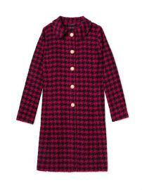 Salvador Perez Peter Pan Collar Coat in Pink at Gilt