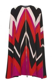Salvatore Ferragamo Multicolored Zig Zag Cape at Moda Operandi