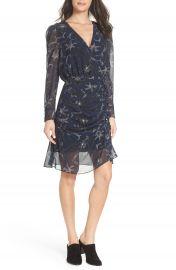 Sam Edelman Floral Chiffon Faux Wrap Dress at Nordstrom