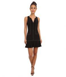 Sam Edelman Pleated Dress w Studs Black at Zappos