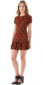 Same dress in orange at Shopbop