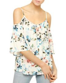 Sanctuary Camilla Floral Cold Shoulder Top at Bloomingdales
