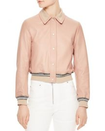 Sandro Biopic Collared Bomber Jacket at Bloomingdales