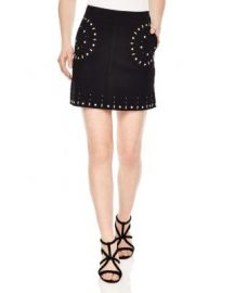 Sandro Colorado Studded Suede Skirt at Bloomingdales