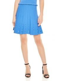 Sandro Izzy Pleated Eyelet-Detail A-Line Skirt at Bloomingdales