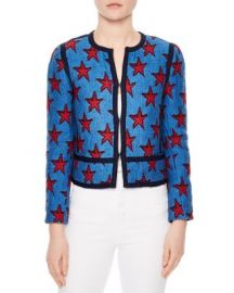 Sandro Bristol Star Jacquard Jacket at Bloomingdales