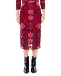 Sandro Calla Medallion Lace Midi Skirt at Bloomingdales