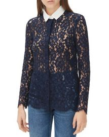 Sandro Celia Lace Shirt at Bloomingdales