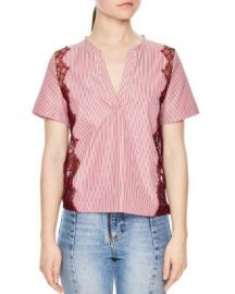 Sandro Crispy Lace Back Top at Bloomingdales
