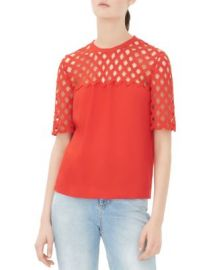 Sandro Edge Netted Top at Bloomingdales