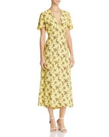 Sandro Enis Printed Midi Dress at Bloomingdales
