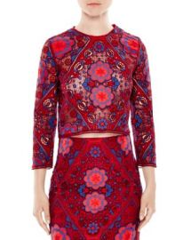 Sandro Iris Medallion Lace Top at Bloomingdales