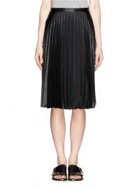 Sandro Java Pleated Skirt at Lane Crawford