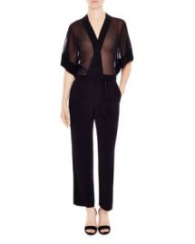 Sandro Kimonoia Semi Sheer Jumpsuit at Bloomingdales