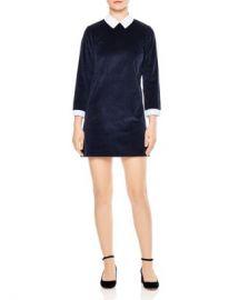 Sandro Laury Contrast-Collar Corduroy Mini Dress Women - Bloomingdale s at Bloomingdales