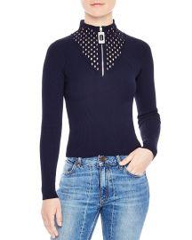 Sandro Matty Zip Sweater at Bloomingdales