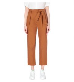 Sandro Paz High Rise Pants Orange at Bloomingdales