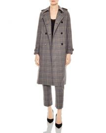 Sandro Roselier Plaid Trench Coat at Saks Fifth Avenue