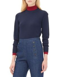 Sandro Siouxie Layered Effect Sweater at Bloomingdales