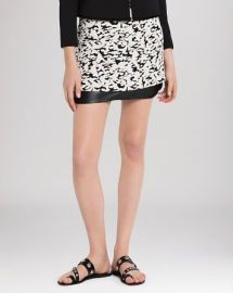 Sandro Skirt - Janique Leather Hem at Bloomingdales