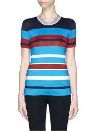 Sandro Tam Stripe Knit T-shirt at Lane Crawford