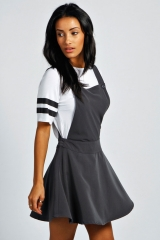 Sandy Pinafore Dress at Boohoo