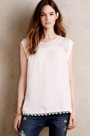 Sanna Blouse in White at Anthropologie