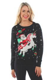 Santa Unicorn Sweater at Tipsy Elves