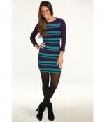 Santana's blue and purple striped dress at Zappos