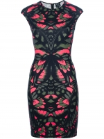 Santana's pink and black dress at Farfetch