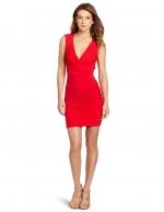 Santana's red dress by BCBG at Amazon