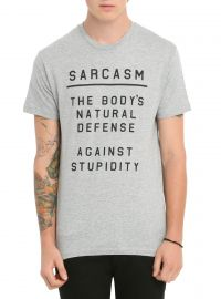 Sarcasm Defense T-shirt at Hot Topic