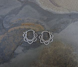 Sasha Bell Jewelry Mini Ornate Tribal Hoops at Etsy