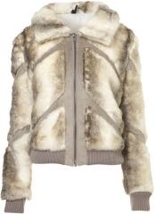 Sasha fur bomber jacket at Topshpo