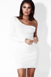 Sassy One Shoulder Distressed Dress by Jlux Label at Jlux Label