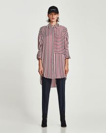 Sateen Shirt Dress at Zara