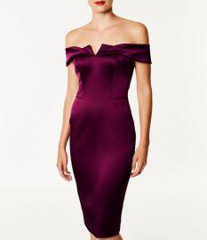 Satin Bodycon Dress at Karen Millen