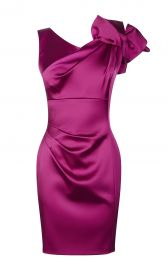 Satin One Shoulder Dress at Karen Millen