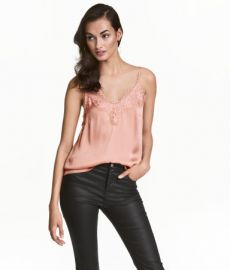 Satin lace camisole at H&M