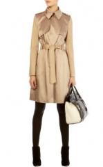 Satin trench coat at Karen Millen