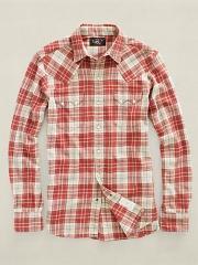 Sawtooth plaid shirt at Ralph Lauren