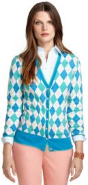 Saxxon Wool Argyle Cardigan at Brooks Brothers