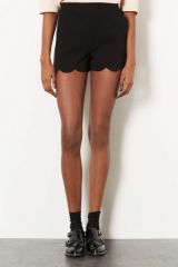 Scallop Hem Shorts at Topshop