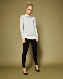 Scallop collar wool and silk-blend jumper by Ted Baker at Ted Baker