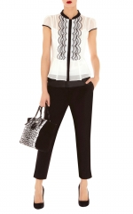 Scallop technique blouse by Karen Millen at Karen Millen