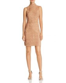 Scalloped Faux Suede Sheath Dress by Aqua at Bloomingdales