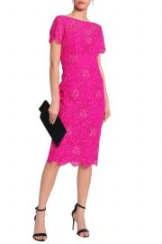 Scalloped embroidered corded lace dress at The Outnet