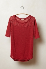 Scalloped lace blouse at Anthropologie