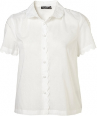 Scalloped shirt at Topshop