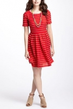 Scalloped stripes dress from Anthropologie at Anthropologie